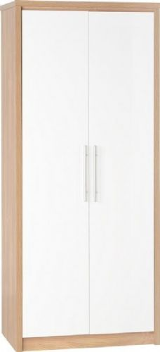 Seville 2 Door Wardrobe WHITE